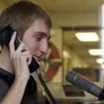 Former KUOI music director Ethan Arave takes a call from a fellow ex-KUOI DJ during his last radio show   Jun 21. Over the course of 24 hours  Arave played a mix of music from pop to rap, to rock to classical piano. joseph engle | summer arg