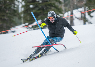 File photo by Philip Vukelich | Argonaut Erik Anderson practices slalom during the Idaho Ski Team's 2012 training camp. Anderson placed first at the team's final regular-season race Feb. 10 at Tamarack Ski Resort, while his brother Drew finished second.