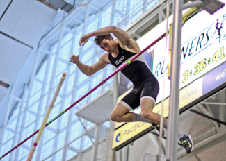 Spencer Farrin | Idaho Athletic Department Matt Sullivan won the men's pole vault Friday at the Idaho Collegiate with a career-best height of 17-0.75 (5.20m). In doing so, he became the third man in Idaho history to break the 17-foot barrier. The Vandal track and field team will prepare for the WAC Championships Thursday and Saturday in Albuquerque, N.M.