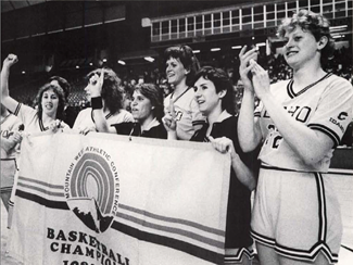 Idaho GEM (1985) | Archives Kristen Browitt, Paula Getty, Robin Barnes, Mary Raese and Mary Westerwelle celebrate their 1985 Mountain West Conference championship. The Vandals went 28-1 during the regular season, were ranked No. 17 in the country and have been the only other Idaho women's basketball team to advance to the NCAA Tournament.