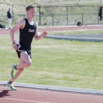 Jesse Hart | Argonaut Idaho distance runner Barry Britt runs laps during practice on Tuesday. The Vandals will compete Friday at the Duane Hartman Invitational in Spokane, Wash., hosted by Spokane Falls Community College.