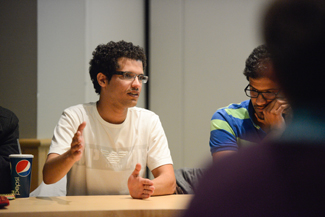 Philip Vukelich | Argonaut Yazeed Alrowily speaks on a student panel during a discussion about Saudi Arabian Culture in a Western University Setting, Wednesday in the Idaho Commons Whitewater Room.
