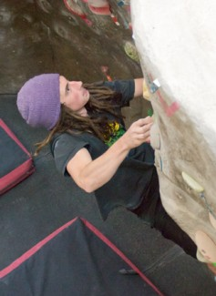 University of Idaho junior Joe Osborn climbs the bouldering wall at the Student Recreation Center. Osborn was part of the UI climbing team that competed in the Northwest Collegiate Climbing Competition last weekend. The team placed fifth overall.