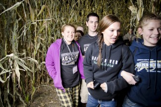 File photo | Argonaut Students navigate through the Clearwater Corn Maze October 2012 as a part of the Ag Days celebration. This year's Ag Days will be Oct. 4 and 5, though the corn maze has been canceled. The annual event kicks off Friday afternoon with various workshops. Ag Days celebrates the importance of agriculture in Idaho by bringing high school students to campus for agriculture education and events.