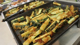 nurainy darono    rawr Whole wheat panko breaded zucchini fries preparedby Marissa Rudley, UI campus dietitian, at the first Vandalizing the Kitchen cooking class on Sept. 24.
