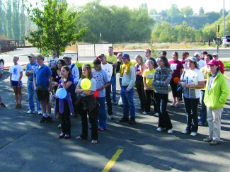 Nathan Weller | Courtesy Participants gather for last year's CROP walk. The event raises funds to help local and global efforts to end hunger. This year's walk takes place at 1:30 p.m. on Oct. 6.