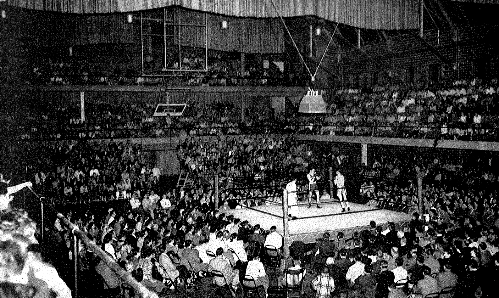 More than 5,200 fans packed Memorial Gym in the 1930s, 40s and 50s to watch Idaho's best boxers spar. The teams collected 19 total national championships. Courtesy photos | UI