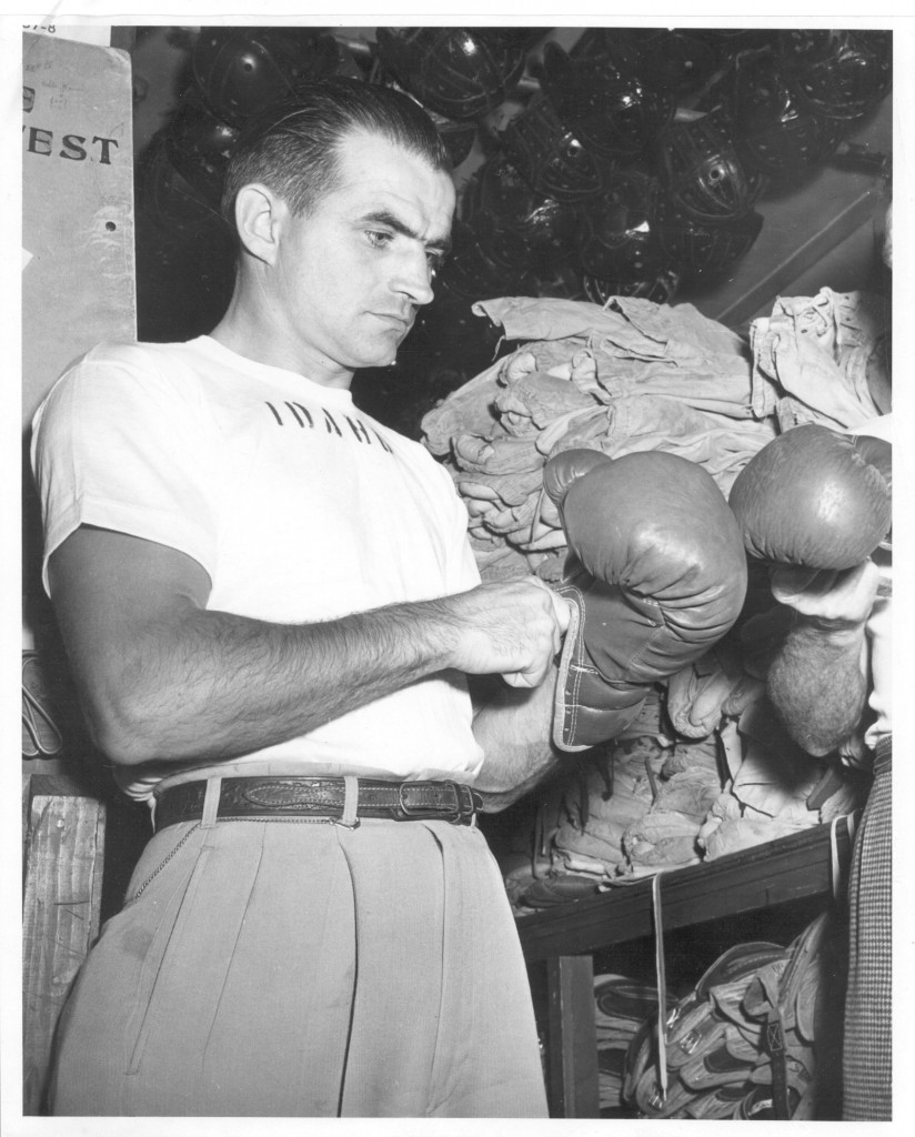 Ex-Idaho coach Frank Young took the job in 1948 and coached  boxers like Herb Carlson, Frank Echevarria and Laune Erickson during his tenure. Courtesy | UI