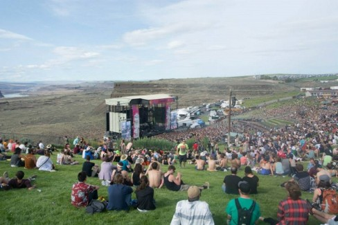George Wood | Argonaut The Gorge Amphitheatre, an outdoor concert venue situated on the edge of a cliff that drops into a canyon created by steady erosion by the Colombia River. The acoustics of the Sasquatch! stage are some of the best offered by outdoor concert venues in the region.