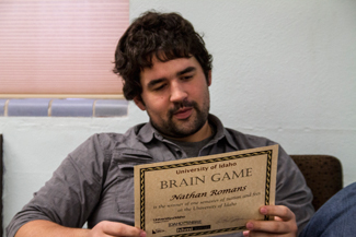 Cy Whitling   Argonaut Nathan Romans won a semester of tuition and fees through the Brain Game.