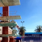 Omar Ojeda | Courtesy  Former Idaho diver Paige Hunt dives Feb. 16 at the University of Arizona. Hunt is training in Arizona in pursuit of competing in the Olympics.