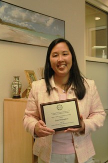 Yishan Chen   Argonaut UI Career Center Director Suzanne Billington holds her award in her office in the Idaho Commons Wednesday afternoon.