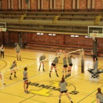Yishan Chen   Argonaut The Idaho volleyball team practices Wednesday at Memorial Gym. The Vandals play their first matches of the spring in a doubleheader Saturday in Pullman.
