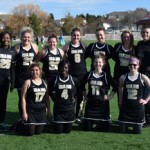 The women's club lacrosse team gathers after March a game against Washington State. The Vandals concluded their season over the weekend.