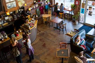 Kira Hunter | Argonaut The interior of local coffee joint One World Cafe