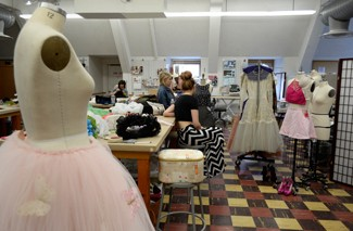 Amelia C. Warden | Argonaut Fashion design students prepare for the MoscowRade Fashion Show this Saturday at 8 p.m. located in the Vandal Ballroom of the Bruce Pitman Center.