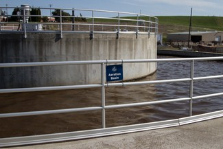 Aeration Basin section of the Water Treatment facility's system.