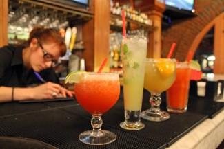 Irish Martos | Argonaut  La Casa Lopez bartender Chloe Miller prepares a set of popular alcoholic beverages at the restaurant.