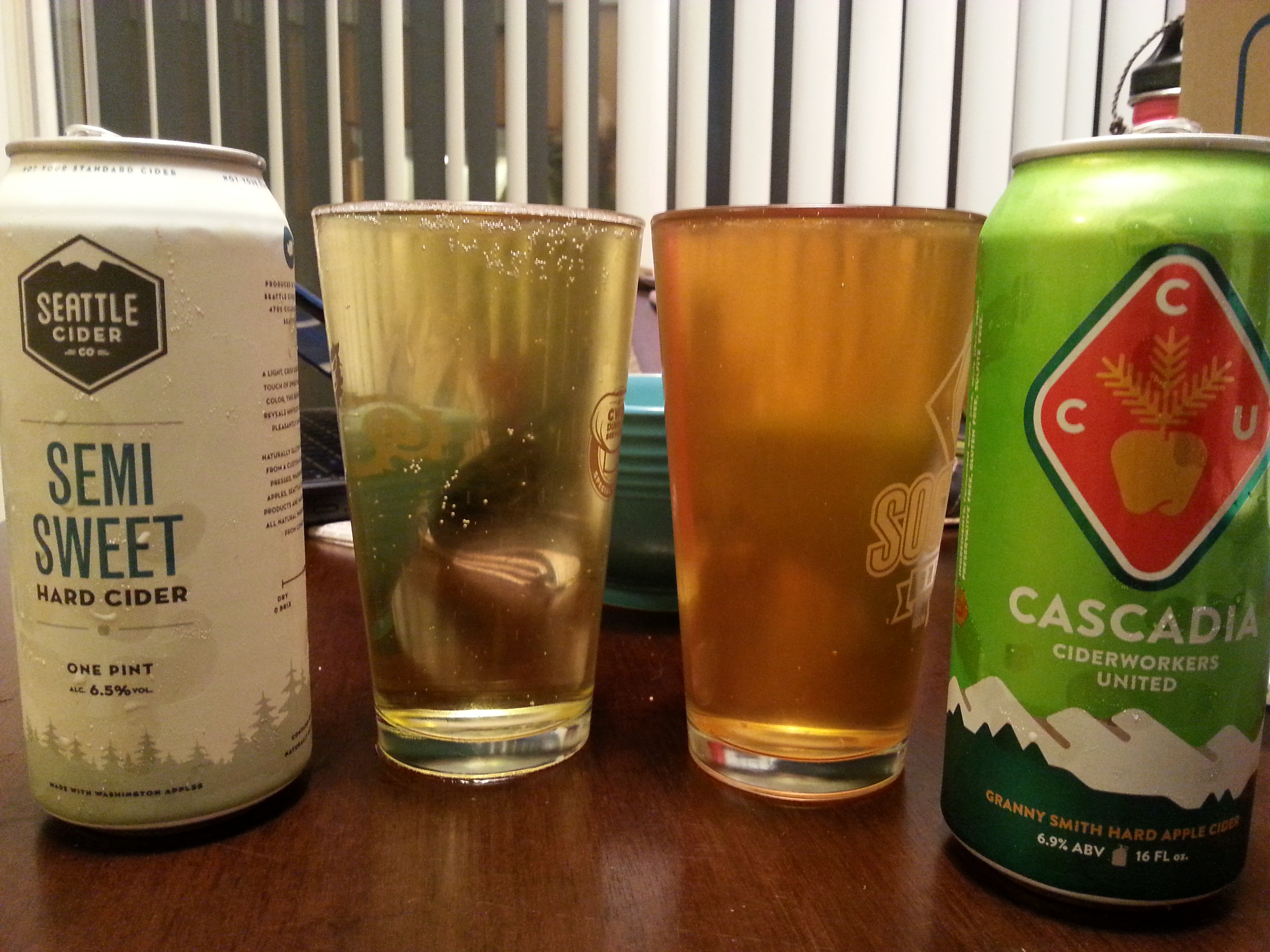 Two ciders to share with mom during moms weekend, Seattle Cider (left) and Cascadia (right). Silas Whitley | Crumbs