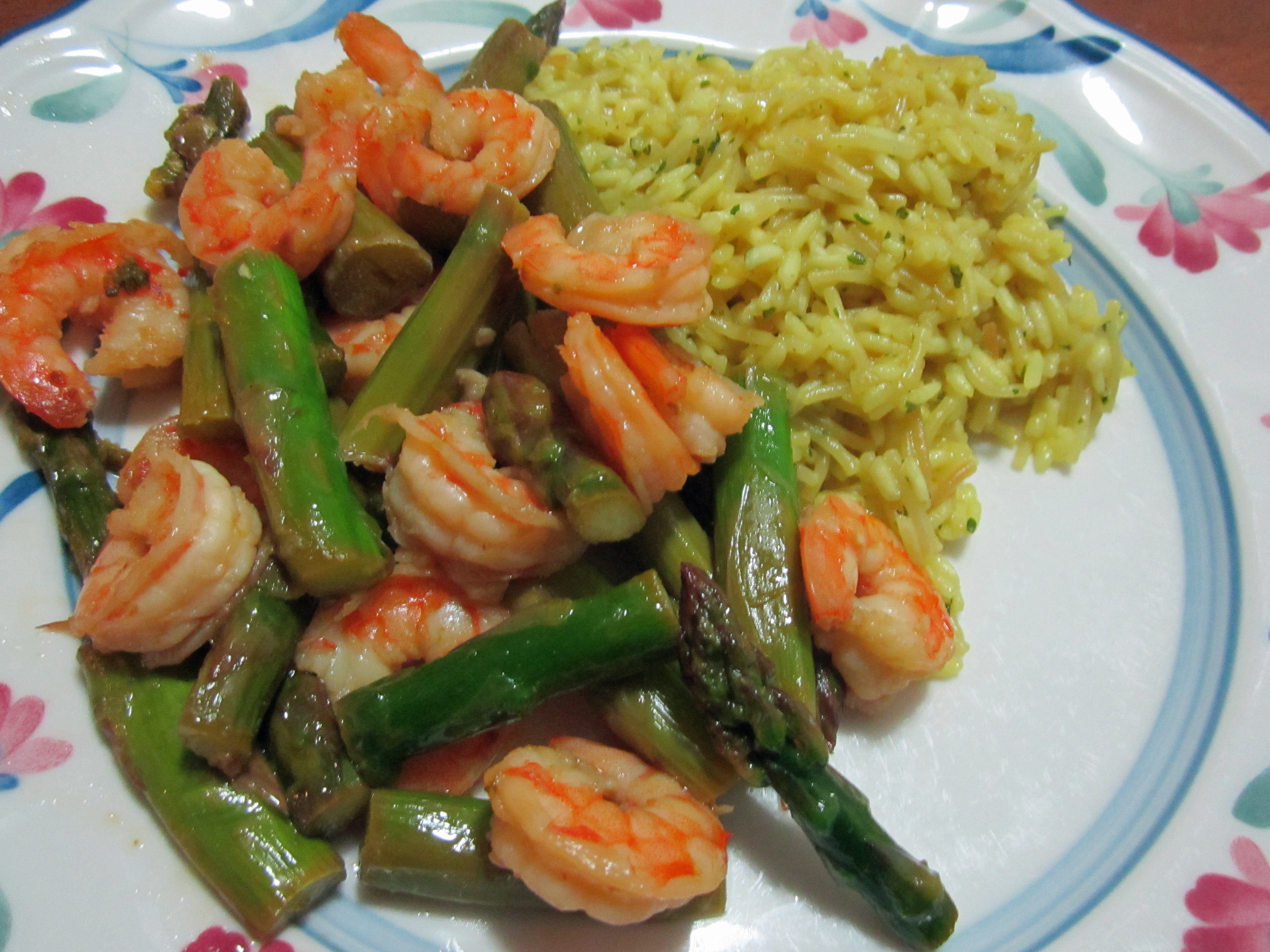 Shrimp and asparagus stir-fry Whitney Hilliard | Crumbs
