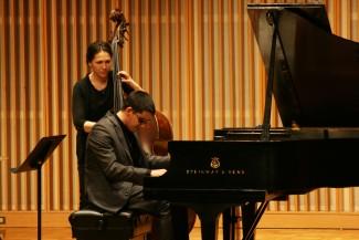 Mamta Kandel | Argonaut Bassist Katie Thiroux and Award-Winning Jazz Pianist Justin Kauflin performed in Jazz Fest Feb. 25 at the Haddock Performance Hall.