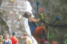 Kira Hunter | Argonaut Logan Fletcher, a Western Washington University student, competes during the Palouse Climbing Festival at the Student Recreation Center.