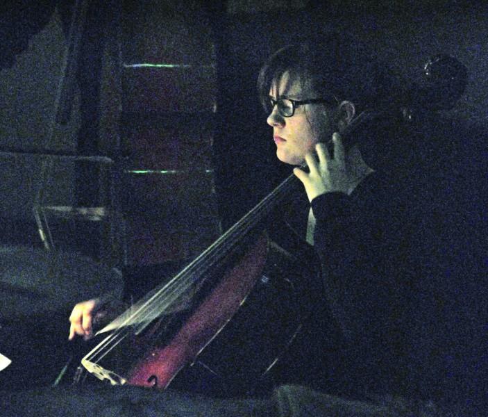 Joleen Evans   Argonaut Freshman Andrea Falk plays cello for The Phantom of the Opera Thursday at the Kenworthy Theater.